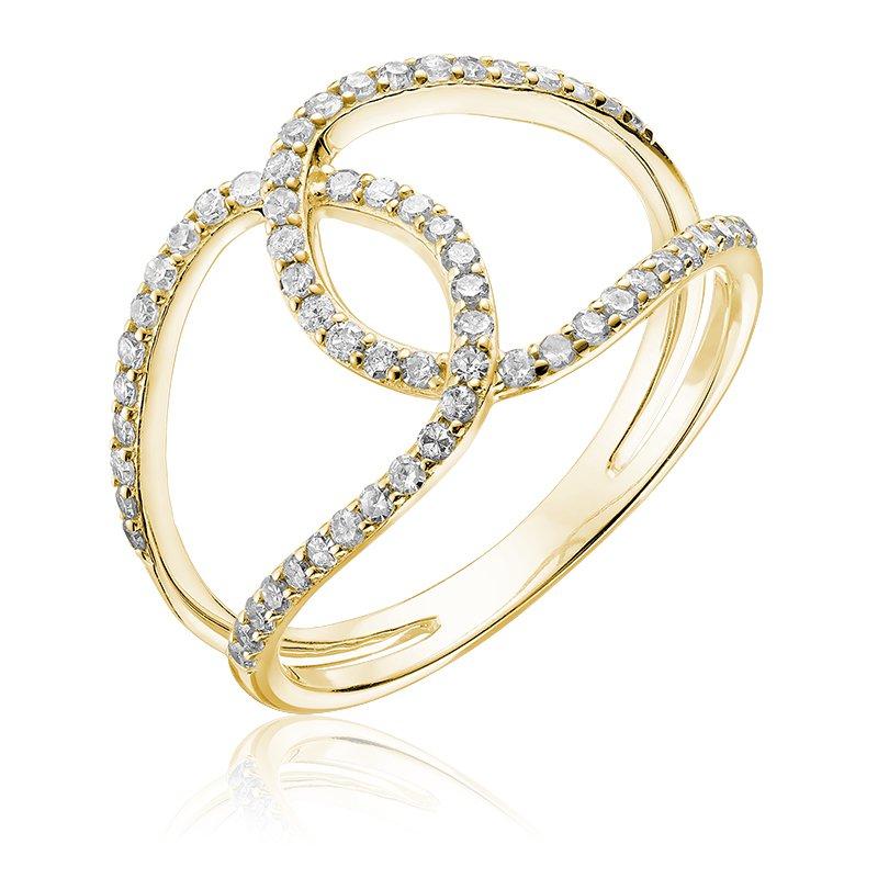 RnB Jewellery Diamond Open Knot Ring