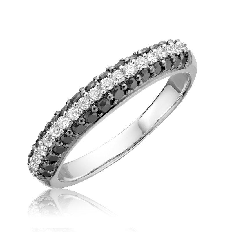 RnB Jewellery Black and White Diamond Ring