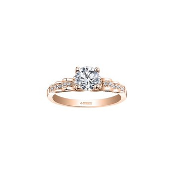 Tides of Love Waves Engagement Ring in Rose Gold