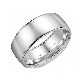 Rope Edged Polished Band