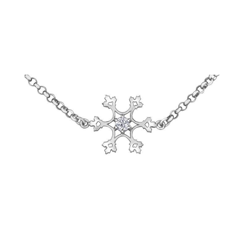 Maple Leaf Diamonds Diamond Snowflake Bracelet