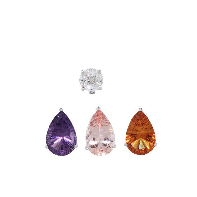 Davidson's Signature Gemstone Pear Drops for Stud Earrings