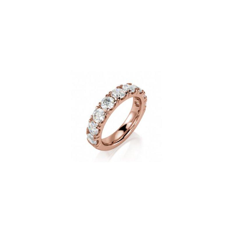 CrownRing Half Way Diamond Set Band in Rose Gold