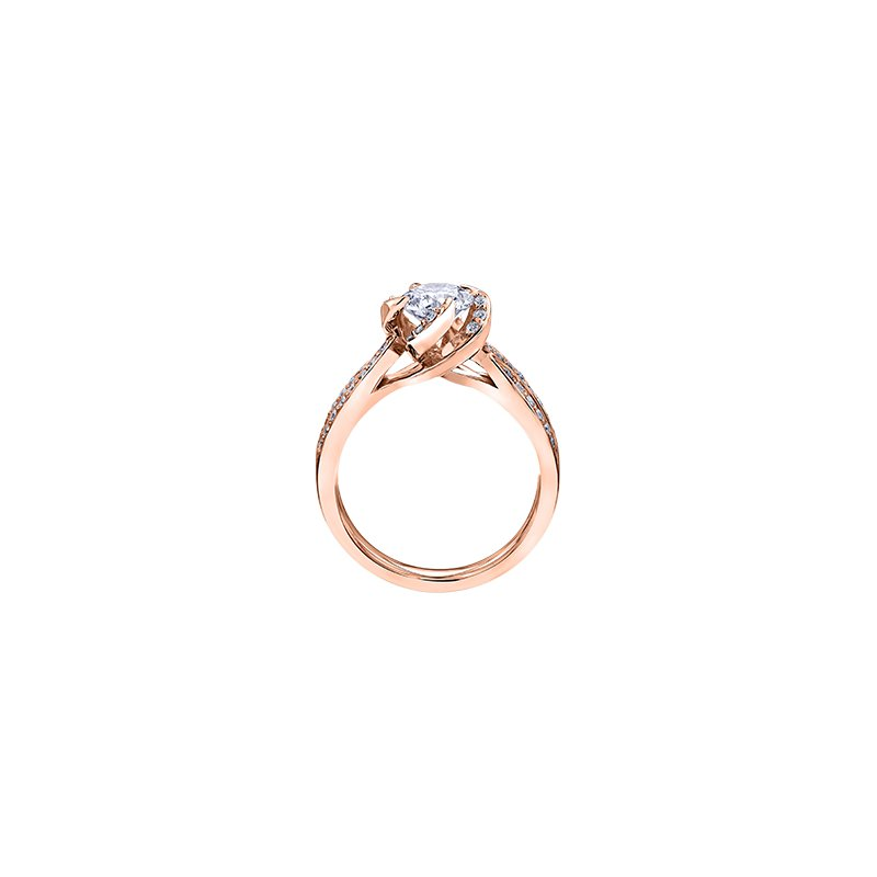 Maple Leaf Diamonds Wind's Embrace Diamond Set Engagement Ring in Rose Gold
