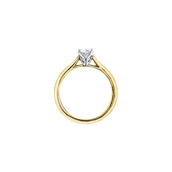 Eternal Flames Oval Solitaire Ring in Yellow Gold