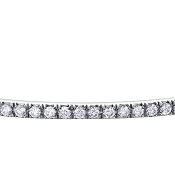 Half Way Diamond Bangle