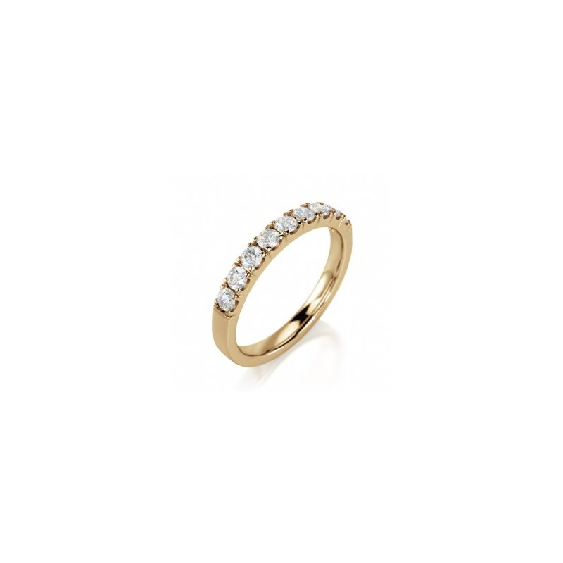 CrownRing Half Way Diamond Set Band in Yellow Gold