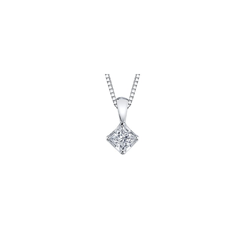 Maple Leaf Diamonds Tides of Love Princess Cut Pendant