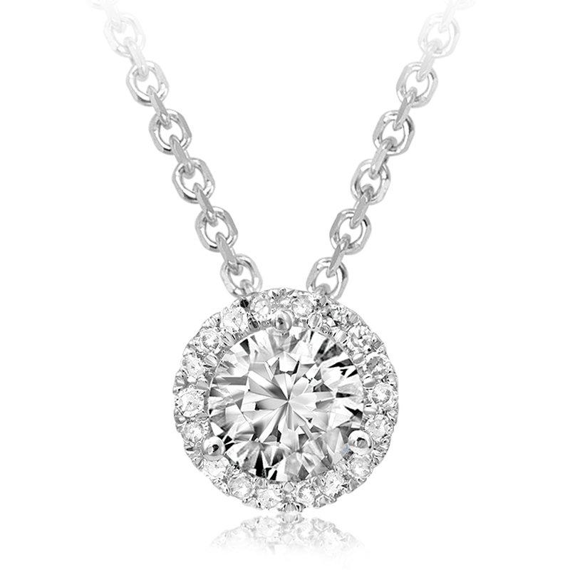 RnB Jewellery Diamond Halo Pendant