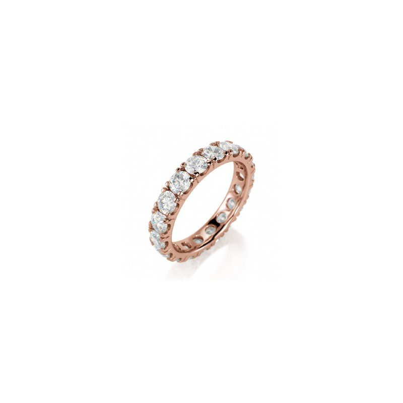 CrownRing Full Eternity Prong Set Band in Rose Gold