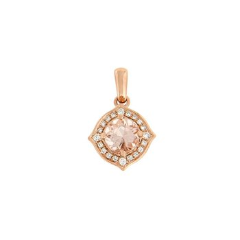 Morganite Fancy Halo Pendant