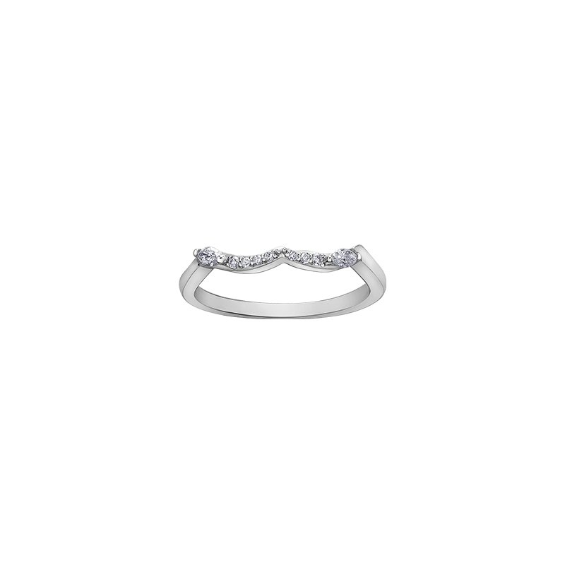 Maple Leaf Diamonds Wind's Embrace Rose Engagement Ring in White Gold
