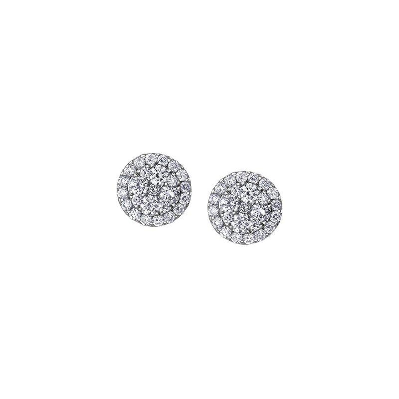 Maple Leaf Diamonds Diamond Cluster Stud Earrings