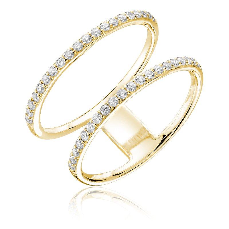 RnB Jewellery Diamond Double Ring