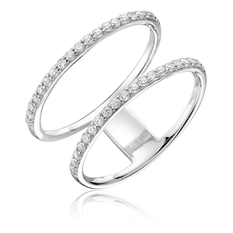 RnB Jewellery Diamond Double Ring