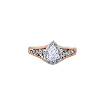 Summer Filigree Pear Engagement Ring