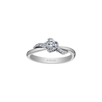 Wind's Embrace Diamond Wrap Engagement Ring in White Gold