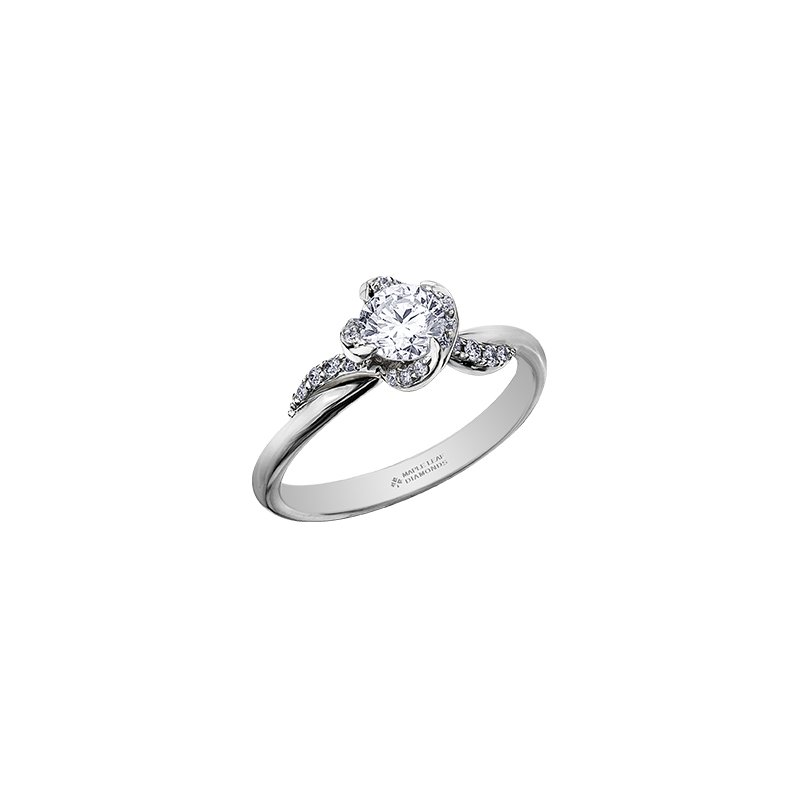 Maple Leaf Diamonds Wind's Embrace Diamond Wrap Engagement Ring in White Gold