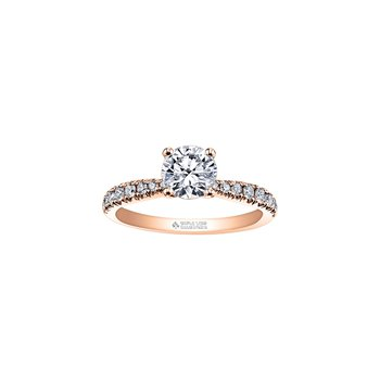 Circle of Love Tapered Diamond Set Engagement Ring in Rose Gold