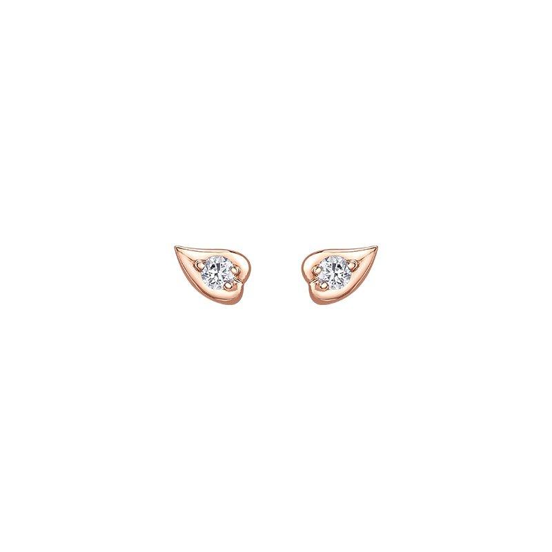 Maple Leaf Diamonds Diamond Leaf Stud Earrings