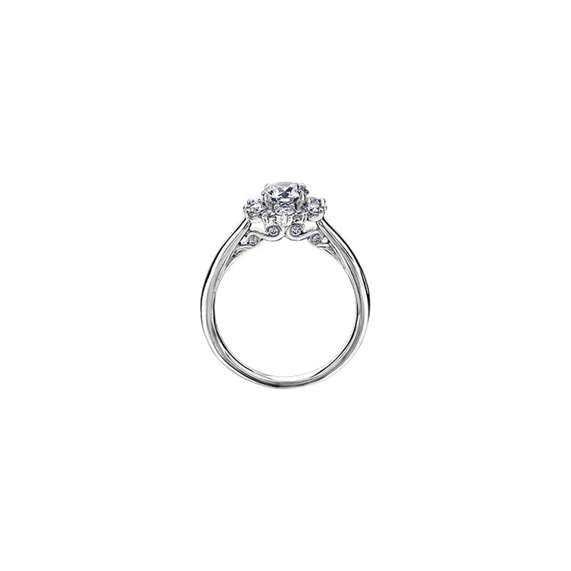 Maple Leaf Diamonds Tides of Love Classic Halo Engagement Ring in White Gold