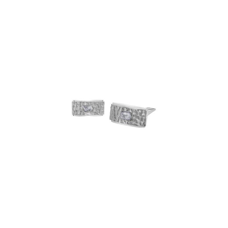 Maple Leaf Diamonds Rough Diamond Cufflinks
