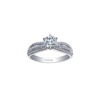 Circle of Love Split Band Engagement Ring