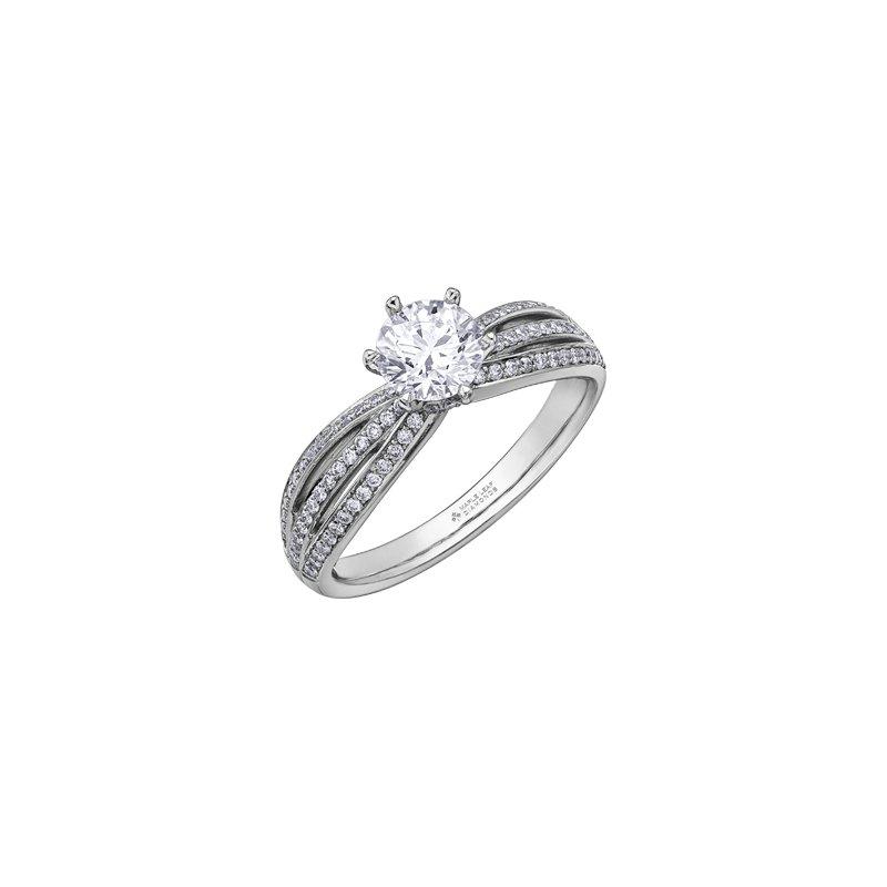Maple Leaf Diamonds Circle of Love Split Band Engagement Ring