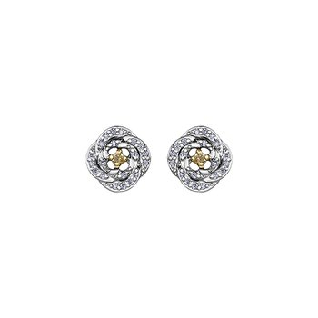 Natural Fancy Yellow Diamond Stud Earrings