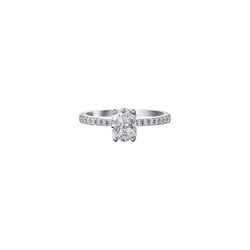 Maple Leaf Diamonds Eternal Flames Oval Diamond Engagement Ring