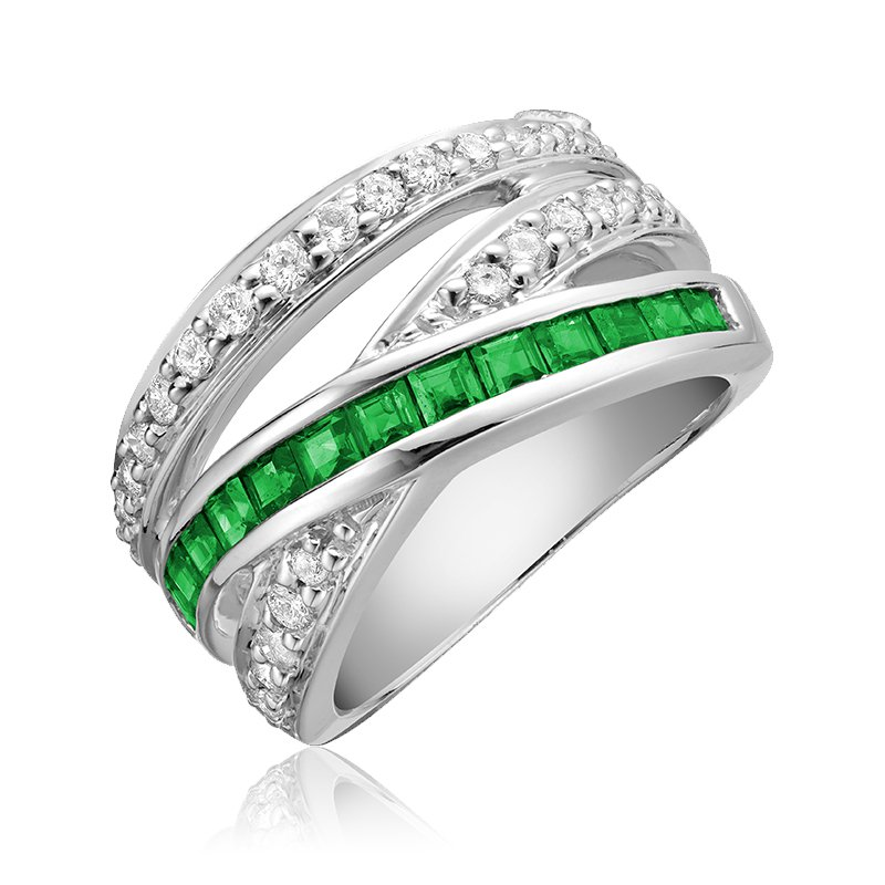 RnB Jewellery Gemstone and Diamond Wrap Ring