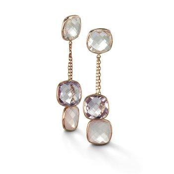 Multi-Stone Double Drop Earrings