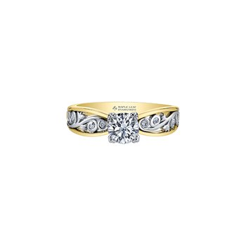 Summer Garden Infinity Ring in Yellow Gold