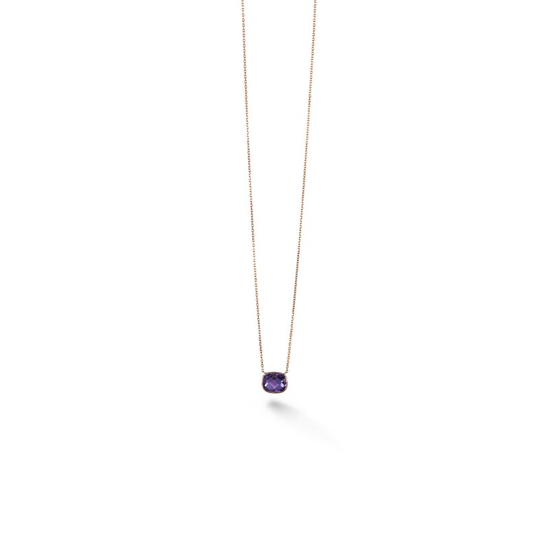 B Couture Cushion Amethyst Necklace