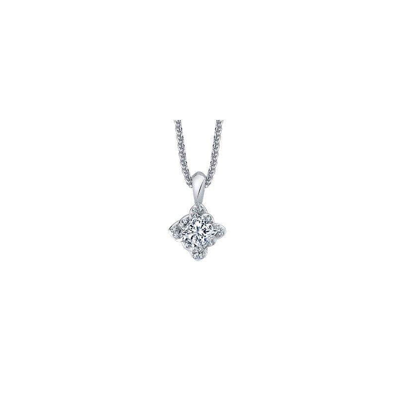 Maple Leaf Diamonds Wind's Embrace Princess Cut Diamond Pendant