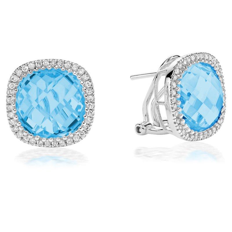 RnB Jewellery Gemstone and Diamond Stud Earrings