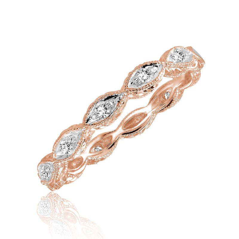 RnB Jewellery Stackable Diamond Marquise Shape Ring