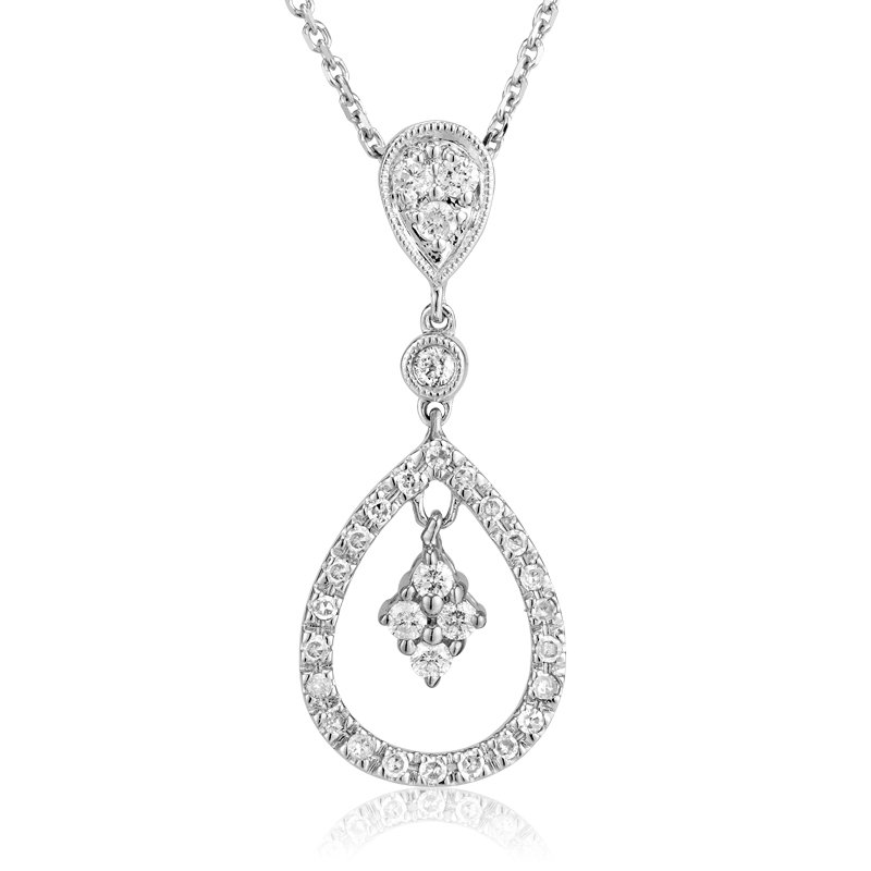 RnB Jewellery Diamond Teardrop Pendant