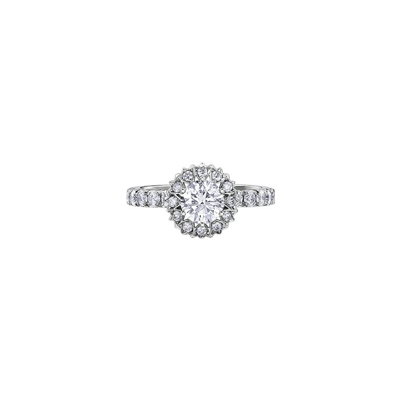 Maple Leaf Diamonds 150 Cut Collection Maple Leaf Diamond Halo Engagement Ring