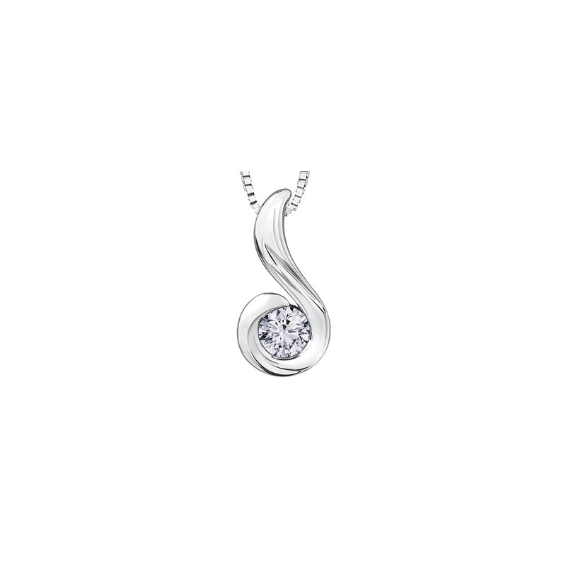 Maple Leaf Diamonds Tides of Love Solitaire Pendant