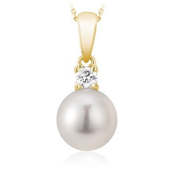 Diamond and Pearl Classic Pendant