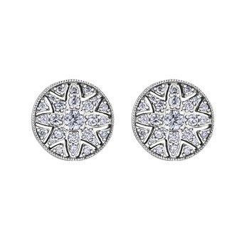Spring Lily Filigree Stud Earrings
