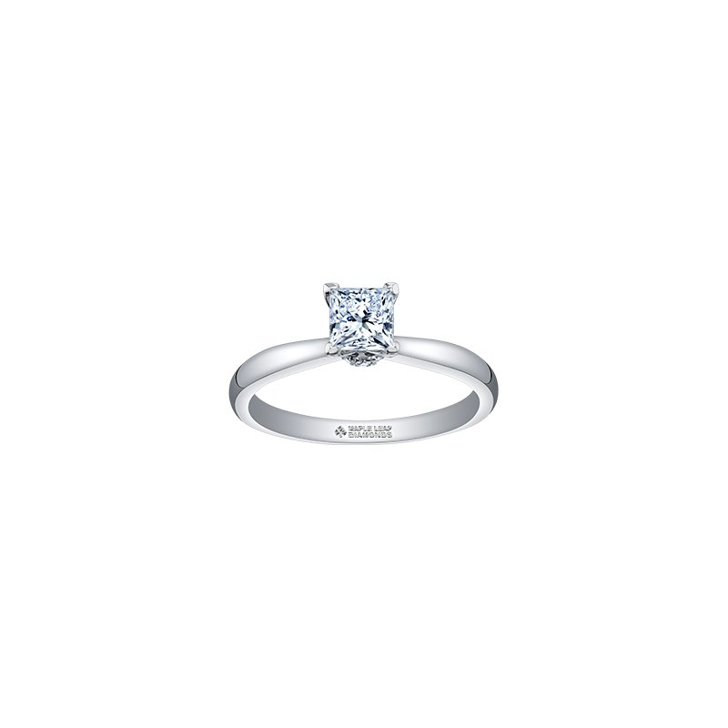 Maple Leaf Diamonds Circle of Love Princess Solitaire Engagement Ring