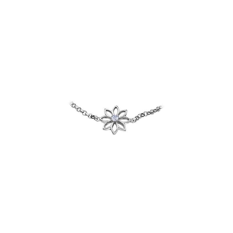 Maple Leaf Diamonds Spring Waterlily Bracelet
