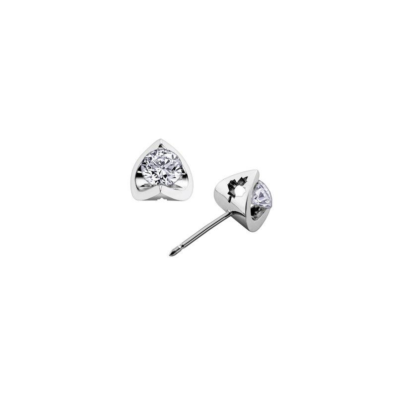 Maple Leaf Diamonds Maple Leaf Solitaire Stud Earrings