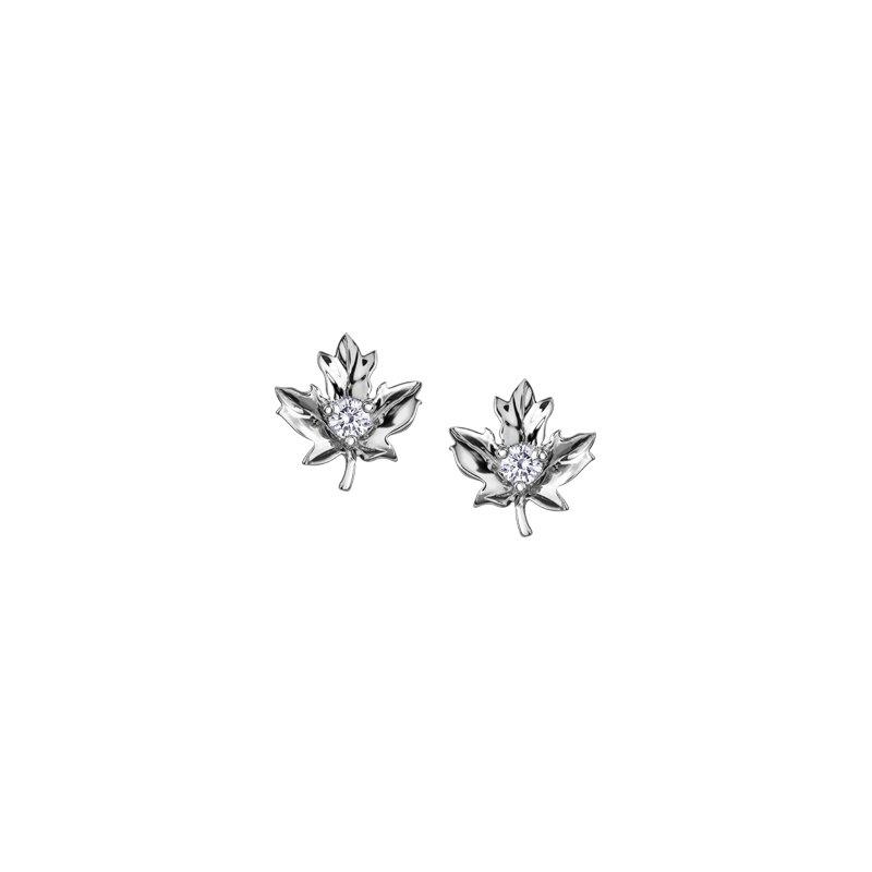 Maple Leaf Diamonds Maple Leaf Diamond Stud Earrings