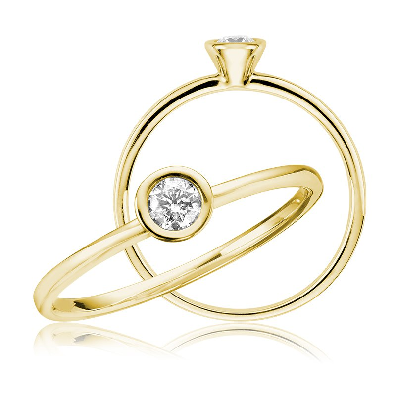 RnB Jewellery Bezel Set Diamond RIng