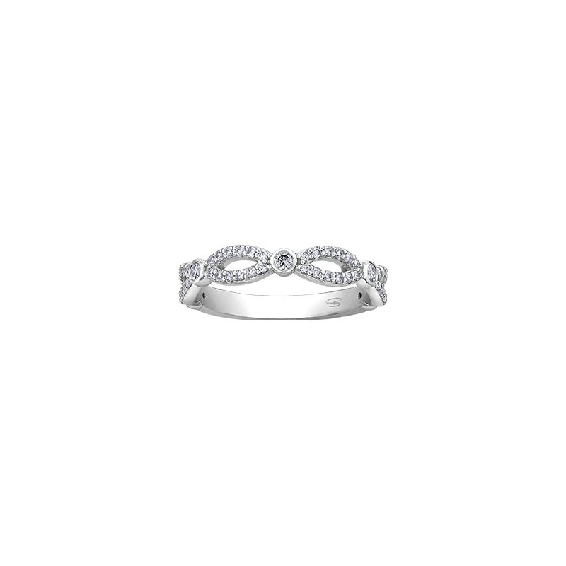 Maple Leaf Diamonds Spring Lily Infinity Ring