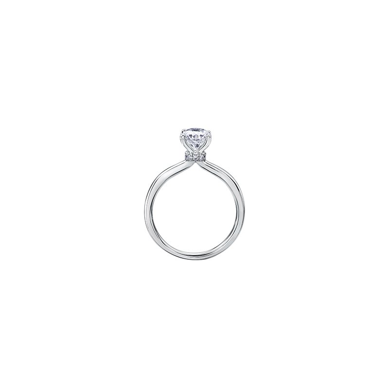 Maple Leaf Diamonds Circle of Love Solitaire Engagement Ring