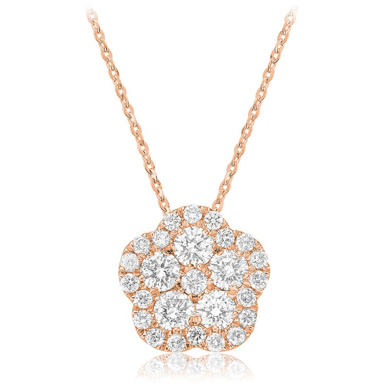 RnB Jewellery Diamond Cluster Pendant